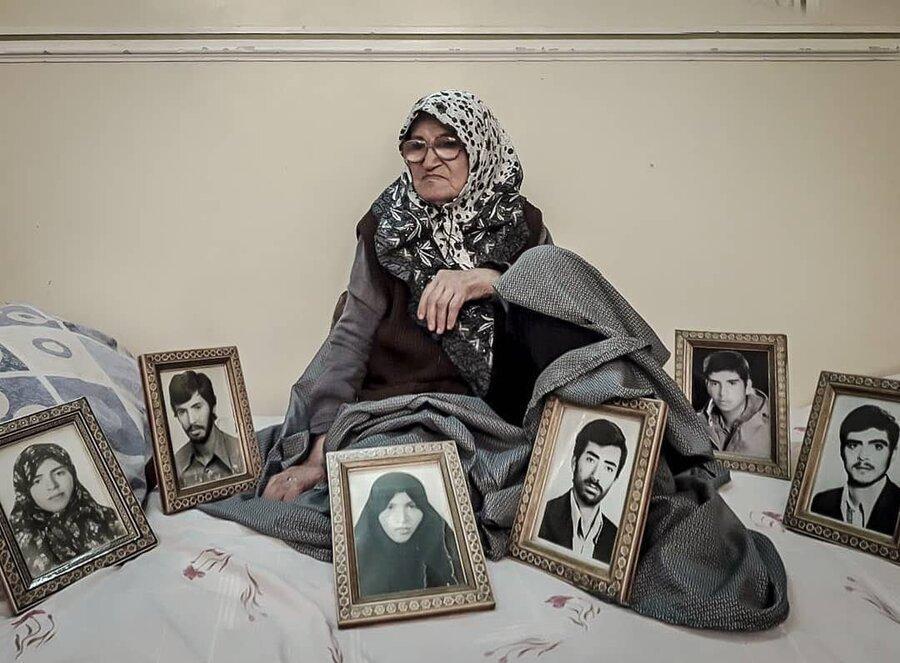 درگذشت بانو واعظی ، مادر چهار شهید به فرزندانش پیوست