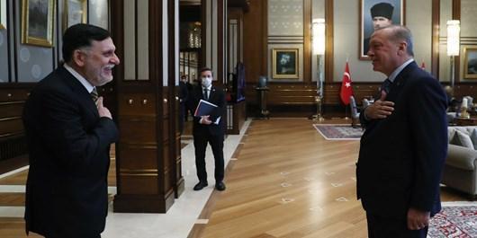 ملاقات رئیس دولت وفاق ملی لیبی با اردوغان در آنکارا