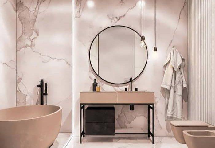 ایده های طراحی حمام با استفاده از سنگ مرمر