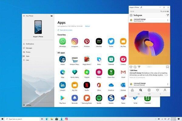 اجرای برنامه های گوشی های سامسونگ در ویندوز 10 ممکن شد