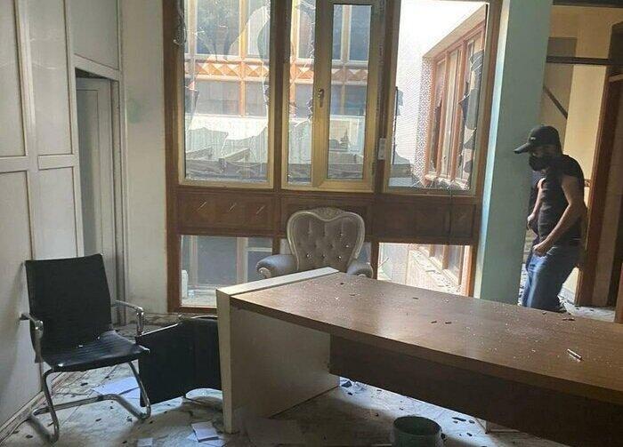 تصاویر ، حمله به دفتر شبکه دجله عراق به دلیل پخش آواز و پایکوبی در شب عاشورا ، سرنوشت مدیر و صاحب شبکه دجله