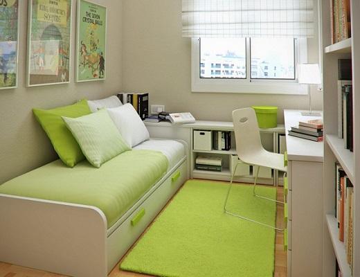 راهنمای چیدمان دکوراسیون اتاق خواب کوچک به شکل مدرن و امروزی