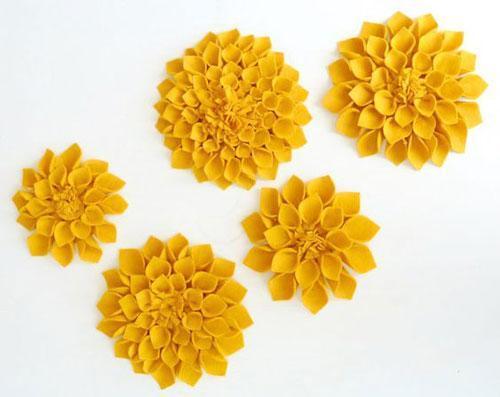 4 روش ساده ساخت گل نمدی تزئینی