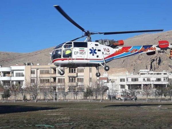 اعزام بالگرد اورژانس لارستان برای انتقال یک بیمار به شیراز