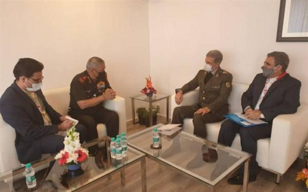 وزیر دفاع ایران با رییس ستاد کل نیروهای مسلح هند ملاقات کرد